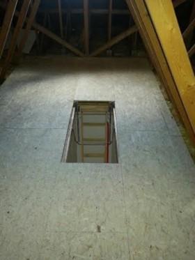 Attic Flooring Installed