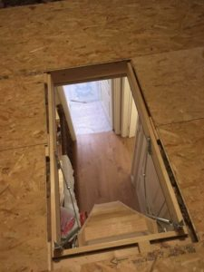 Folding Attic Stairs Viewed From Above