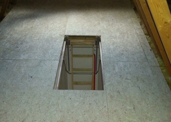 Fitted Attic Flooring and Folding Attic Stair